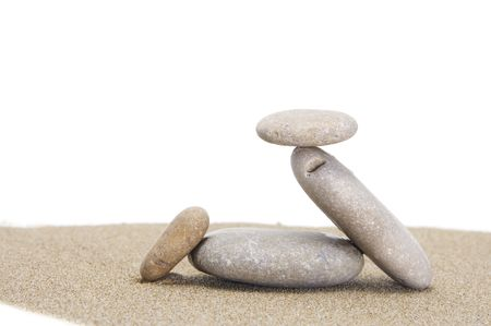 a zen stones on a white background Stock Photo - 7086911