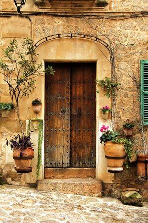 mediterranean houses: a view of a litle old mediterranean village Stock Photo
