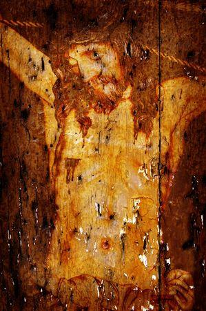 figure of Jesus Christ on vintage background Stock Photo - 6597104