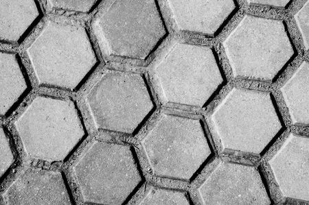 close up of an hexagonal pattern background Stock Photo - 6597182