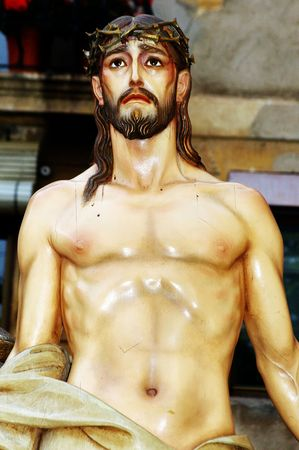 artistic jesus: close up of an image of jesus christ