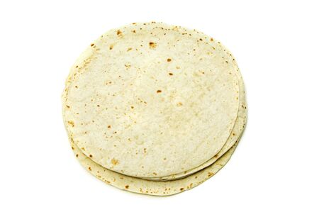 tortillas: several flour tortillas isolated on a white background