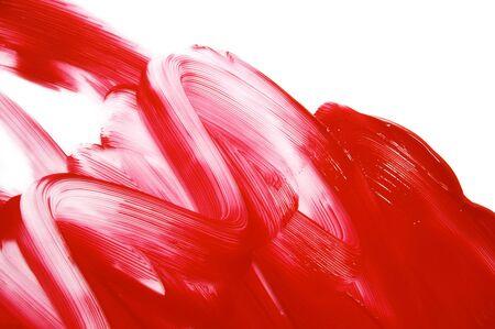 r image: tratti rosse su sfondo bianco Archivio Fotografico