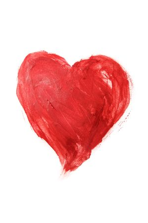 lovingly: heart drawn on a white background