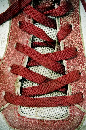 closeup of a red sneaker with red laces Stock Photo - 6636635