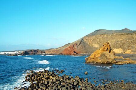 lanzarote: a view of Playa del Lago Verde, in Lanzarote, Canary Islands, Spain