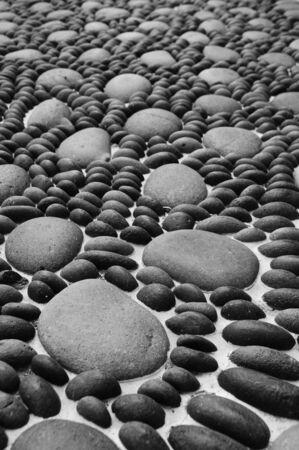 a zen stones background white and black  Stock Photo - 6636670