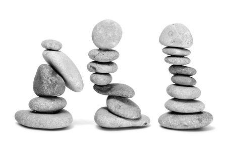 zen stones background white and black  Stock Photo - 6689801