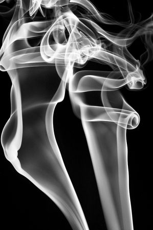 airiness: colored smoke isolated  on a black background Stock Photo
