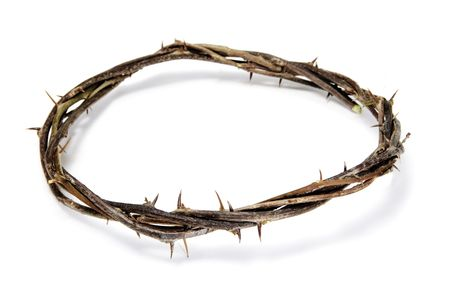 semana santa: close up of a representation of the Jesus crown of thorns