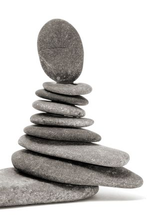 a zen stones background white and black  Stock Photo - 6689887