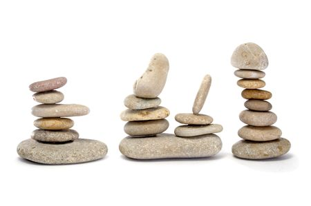 a zen stones on a white background Stock Photo - 6689949