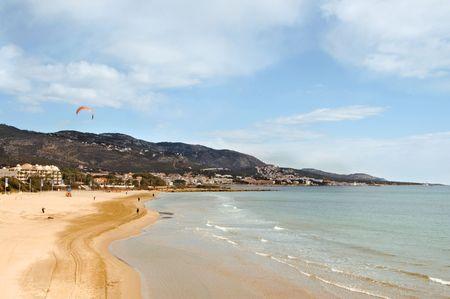 romana: A view of Romana beach in Alcocebre, Valencia, Spain