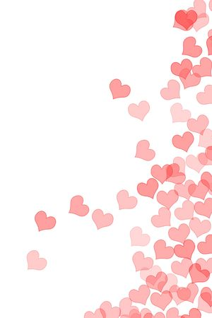 lovingly: hearts drawn on a white background