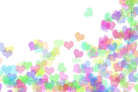 hearts of different colors drawn on a white background Stock Photo - 6755873