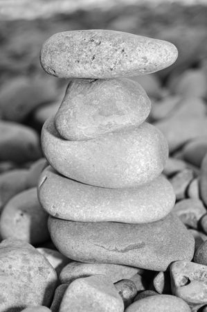 zen stones background in white and black  photo