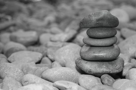 zen stones background in white and black Stock Photo - 6756024