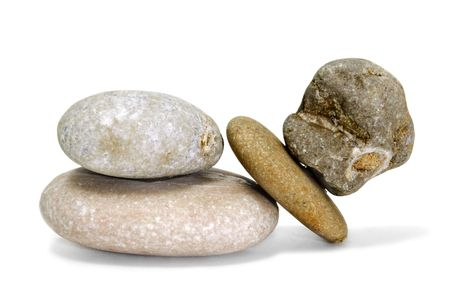 zen stones isolated on a white background photo