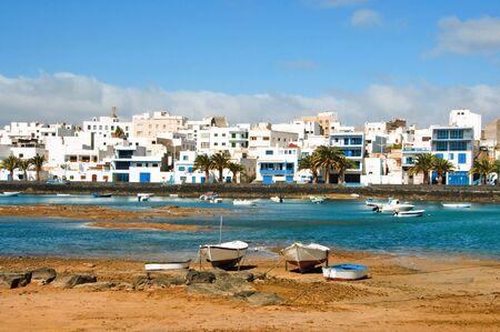 lanzarote: een weergave van de Maritm van de Arrecife, de Lanzarote, de Canarische eilanden, Spanje ride Stockfoto