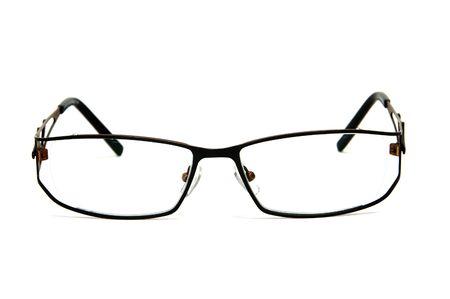 handsom: gafas de metal-cercado aislados en un fondo blanco
