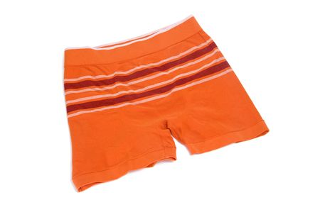 orange men's boxer briefs isolated on a white background Stock Photo - 6756100