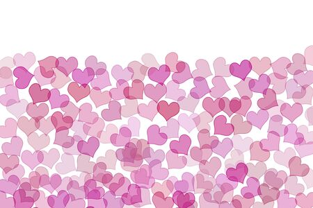 some pink hearts drawn on a white background photo
