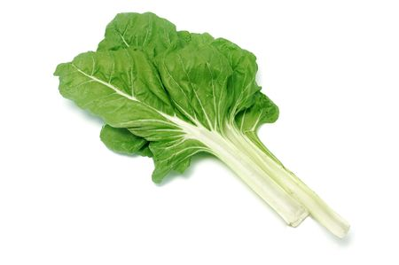 fresh spinach: chard leaves isolated on a white background