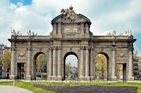 madrid  spain: a view of Puerta de Alcala, in Madrid, Spain