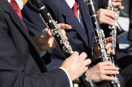 some members of an orchestra playing the clarinet photo