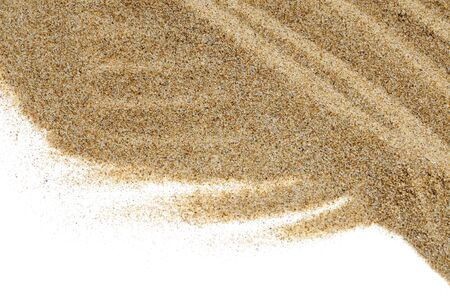 closeup of sand isolated on a white background Stock Photo - 6898294
