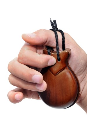 closeup of a castanets player on a white background Stock Photo - 6898255