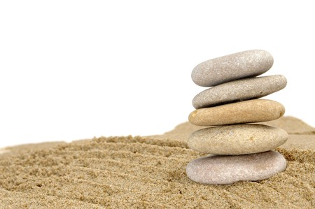 background made with zen stones in the sand Stock Photo - 6898241