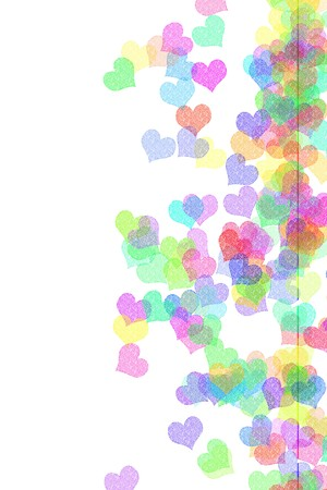 hearts of many colors drawn on a white background Stock Photo - 6898315