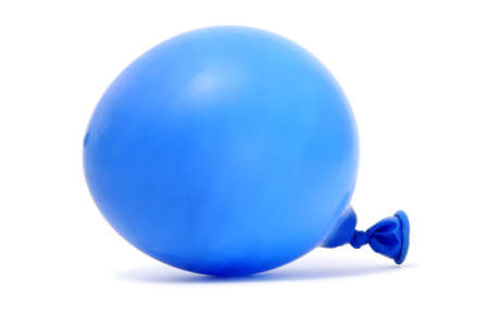 a blue balloon isolated on a white background photo