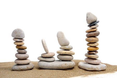 a zen stones on a white background Stock Photo - 6898323