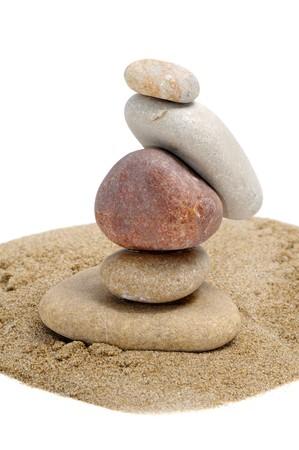 a zen stones on a white background Stock Photo - 6898321