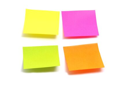 postit note: post it in different colors on a white background