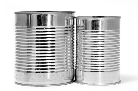 pulltab: a pair of cans isolated on a white background Stock Photo