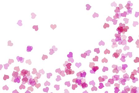 pink hearts drawn on a white background photo