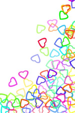 hearts drawn on a white background Stock Photo - 6952522