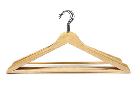 some clothes hangers isolated on a white background Stock Photo - 6952549