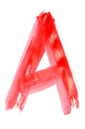 a letter painted on a white background photo