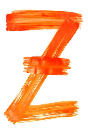 z letter painted on a white background Stock Photo - 6952608