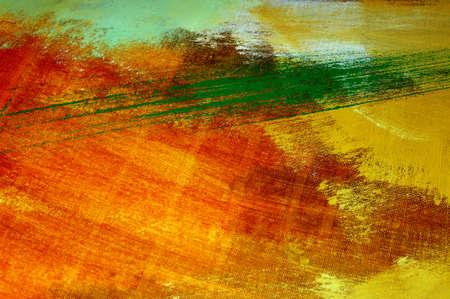 pinceladas: pinceladas de diferentes colores en un lienzo
