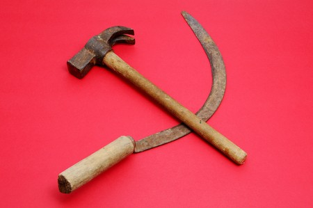hammer and sickle: a respresentation of hammer and sickle symbol