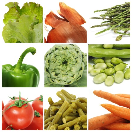 a collage of nine pictures of different vegetables Stock Photo - 6952839