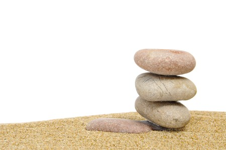 background made with zen stones in the sand Stock Photo - 6953527