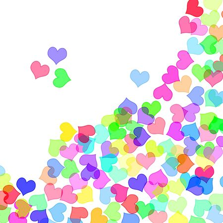 hearts drawn on a white background Stock Photo - 7008626