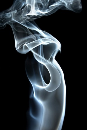 colored smoke isolated on a black background Stock Photo - 7036156
