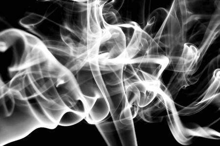 humo: white smoke isolated on a black background